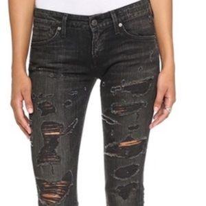 NWT A GOLD E Chloe Low Rise Slim Jeans